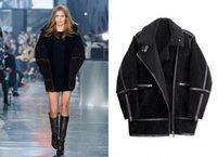 berber jackets - Winter Jacket women cardigans Shearling Collar berber fleece suede long coat ladies trench jaqueta de couro feminina
