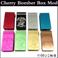 hatter - Cherry Bomber Box Mod Clone Dual Battery with Magnetic switch Vapor Mod fit sub tank Mad Hatter RDA Freakshow RDA