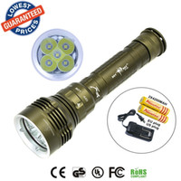 Wholesale 2015 New DX5 LM Underwater MDiving Waterproof x CREE XM L2 LEDFlashlight Torch Lamps x18650 Battery Charger