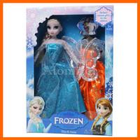 Electronic Cigarette doll boxes - Children Dolls Princess Elsa Anna Doll figure Toy in box action fgure change clothes