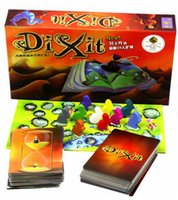 Wholesale Dixit version cards game with wood rabbit board games the expansion to personal entertainment