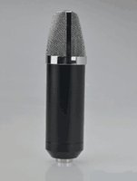 Wholesale HOT Handheld Large diaphragm professional wired microphone for karaoke and studio recording condenser mic of audio accessories parts