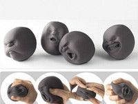 Wholesale Vent Human Face Ball Anti stress Ball of Japanese Design Cao Maru Caomaru White Funny Decompression Toy Gift