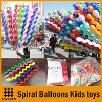 Wholesale Colorful Kids Toys Balloon Spiral Balloons For Wedding Birthday Party Christmas toys Christmas Decorations High Quality