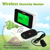 Wholesale Brand New Wireless Electricity Monitor Power Meter Carbon Energy Monitor With Transmitter Save Power Energy Watt Meter Analyzer