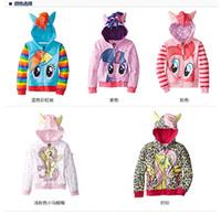 Wholesale Newest my little pony clothes Girls Spring autumn my little pony hoodies kids cartoon hoodies children clothing zipper outerwear hoodies