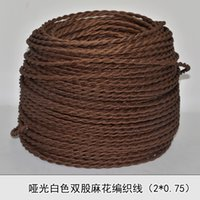 electrical wiring - 2 MM2 Vintage wire brown knitted cloth electrical wire copper conductor electrical wire pendant light lamps line meters
