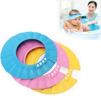 baby shampoo for adults - Deal Adjustable Shower Cap Protect Shampoo For Baby Health Bathing Waterproof Child Wash Hair Shield Hat Bathroom Produt