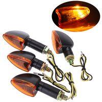 Wholesale 4pcs V Motorcycle Turn Signal Light Lamp Bulbs Indicator Light Bike LED Bulb Front Back pair