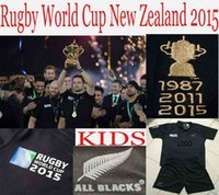 Wholesale Best quality New Zealand All Blacks rugby team All Blacks rugby jersey shirt Kids home jersey rugby shirt