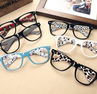 Wholesale FASHION Cute Mens Women students cartoon Eye Glasses Frame No Lens Many Colors GJ482