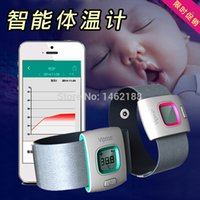 Wholesale Ifever child intelligent thermometer wearable electronic bluetooth home smart baby thermometer Temperature Monitoring