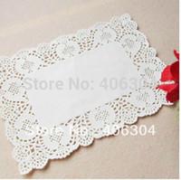 Wholesale rectangle white paper doilies cm cm paper lace doilies placemat