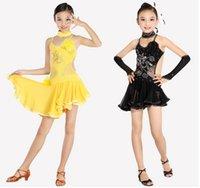 children dance costumes - New girls children dance costumes sequins latin dance dress costume dancewear traning leotards Children s Day stage wear
