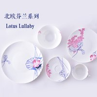 ceramic cup and saucer - CHINA Finland s Top Products Lotus Lullaby Porcelainous Soup Plate Cup and Saucer Bowl Mug