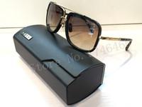 gold sunglasses - MACH ONE designer square gold frame brown gradient lens dita mach one sunglasses women men