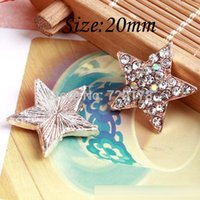 Cheap 50PCS lots 20mm Star rhinestone button flatback embellishment for hair bow center RMX88