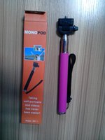 Wholesale Self timer Mobile phone Extendable Ski Pole Handle Monopod With Tripod Mount For Camera iphone S C Samsung Galaxy S5 S6 DHL