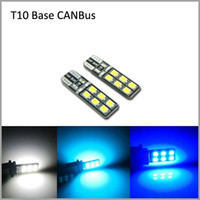 Wholesale 10pcs CANBus SMD2835 LED Car LED CANBus T10 Wedge Clearance Lights Marker Lamps License Plate Lights Car Door Lights