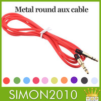 Wholesale Retractable audio connecting Cable Lead Good quality colordul aux cable mm auxiliary audio cable general use for samsung S4 note htc