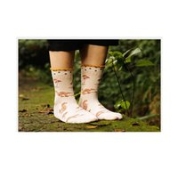 Wholesale 2015 new Japanese cotton forest squirrel MS cotton candy color retro creative stockings