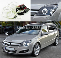 astra kit - GPS For Opel Astra H with projector headlight Excellent angel eyes kit Ultra bright illumination CCFL Angel Eyes kit Halo Ring