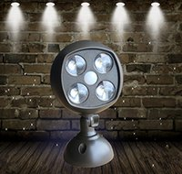 battery operated spotlights - Wireless LED Spotlight Motion Sensor Light Sensor Lamp Weatherproof Battery Operated Lumens Outdoor Indoor Light Yard Wall Lamp