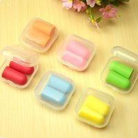 Wholesale 10 Pairs Soft Foam Anti noise Noise Reduction Earplug Ear Plug for Travel Sleep Rest Hearing Protection ZH200