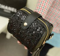 Wholesale New fashion mulit function cross body bag much style mini bright bag rivet vintga zipper decoration