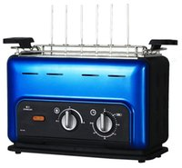 Wholesale portable stainless steel vertical smokeless bbq household electric machine ham bbq grill tool set cooking equipments electric ovens blue