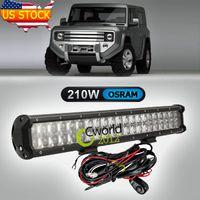 Cheap 20 Inch 210W Osram Offroad LED Light Bar Auto SUV Truck 4x4 AWD Styling Auxiliary Bumper Headlight Hyper Spot Combo Beam Lamp