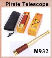 Wholesale M932 X30 Brass Scalable To Stretch Zoom Monocular Maritime Nautical Pirate Telescope camera Ship Spyglass Scope Gift vs binoculars OTH096