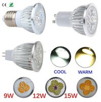 Wholesale Led 35 12v - Dimmable E27 GU10 MR16 3x3W 9W 4x3W 12W 5x3W 15W LED Spot Light Spotlight Lamp Bulb indoor downlight Equivalent to 35-75W Halogen Bulb
