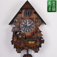 Wholesale Korea KAIROS cuckoo clock cuckoo clock chime light control music parlor mute wall clock watch