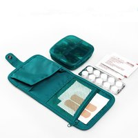aids pills - Multifunction Pill Cases High Capacity Double Layer Pill Jewelry Divisional Case Splitters First Aid Bag