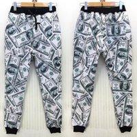 Cheap Funny 3D money pattern 100 dollar print winter sport pants women men palazzo joggers casual sweatpants plus size