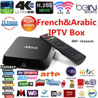 Wholesale Arabic French IPTV Box channels Bein Sports Canal plus M6 Sky Channels HD media player M8S S812 Quad core Android tv box