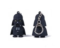 Wholesale Star Wars Darth Vader Yoda Keychain Accessories LED Luminous keychain Creative Chain Key Pendant Chrismas Gift Newest