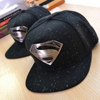 Wholesale Baseball cap Superman adjustable brand baseball snapback hats and caps for men women sports hip hop womens mens sun cap