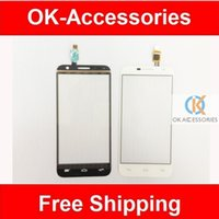 alcatel tribe - White Black Color Touch Screen For Alcatel One Touch Tribe OT6016 Digitizer Front Glass Replacement PC