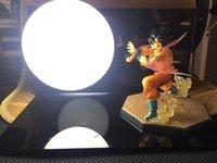 Wholesale Dragon Ball Z Action Figure Son Gokou Triple Kaiouken Kamehameha Display Toy Dragonball Z Goku Figuras DBZ With Base And Bulb