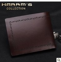Wholesale Fashion male classic wallet mens long design purse genuine leather HMS
