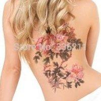 big fake tattoos - large big Peony flower designs Temporary tattoos stickers Waterproof body paint fake tatoo new for women