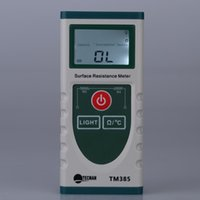 Wholesale Handheld Surface Resistance Meter Electrostatic Static Electricity Tester Temperature Measurement with LCD Display