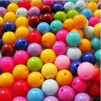 Wholesale 490pcs Mixed Color Solid color GUMBALL Chunky MM Big Chunky Bubblegum Acrylic Solid Beads Colorful Chunky Beads Jewelry