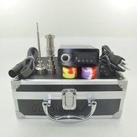 Dnail Kit D-Clavo ENail Kit de uñas de cuarzo Piso en cera a base de plantas secado seco nueva llegada Dabber Bong agua Piper titanio uñas Calentador de bobinas