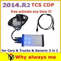 Wholesale Latest Release Software Black TCS CDP Pro PLUS with keygen in CD for Cars Trucks Generic in1 Auto tcs cdp pro com freeshipping
