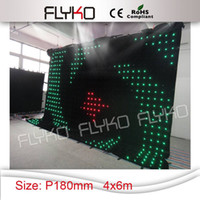 Wholesale Flexible Mx6M DMX P18 Led Video Version Cloth RGB In1 Color Curtain Wall Light Screen Display for Wedding Stage Backdrops with Controller