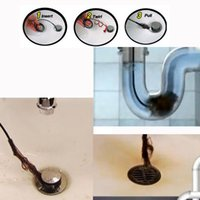 Wholesale 2pcs Drain Sink Cleaner Bathroom Unclog Sink Tub Toilet Snake Brush Hair Removal Tool