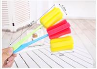 Wholesale Sponge brush bottle nipple brush head piece degree rotating wash bottle brush Washing Baby Milk Feeding Bottle tool